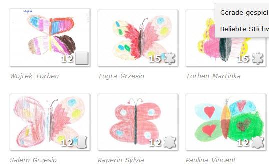 Schmetterlingspuzzle